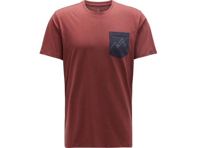 Haglöfs Mirth T-shirt Homme, maroon red/slate